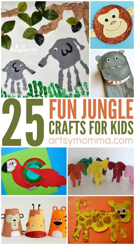 jungle crafts for to go along with the jungle book 649 | 36ea0f9f8f5a37f37cfafb665c8496c8