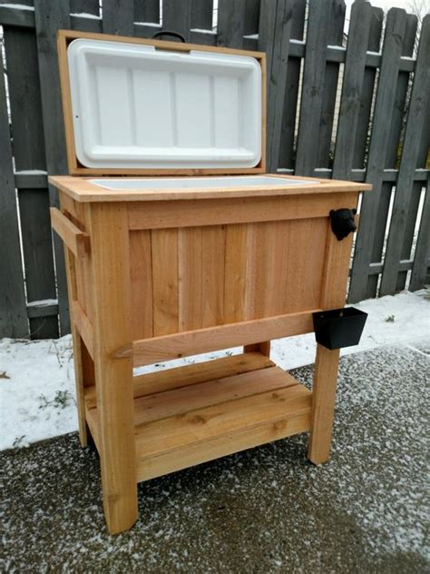 black bear edition rustic cedar chest cooler stand