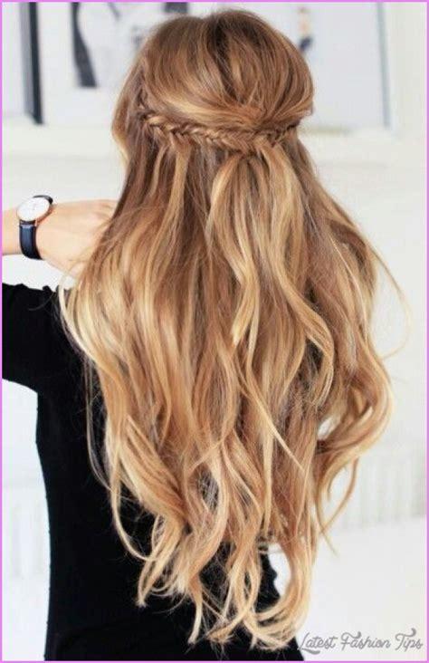 long hairstyles half up half down latestfashiontips com