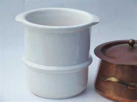 large douro   copper steamer pan  china insert benjamin medwin