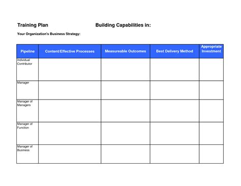 Training Budget Template Pdf by Training Plan Template Cyberuse