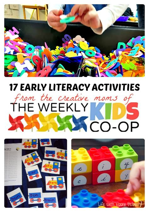 literacy activities for preschoolers easy early literacy activities from the weekly co op 125