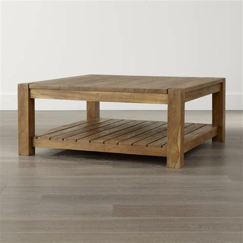 square coffee tables for edgewood square coffee table crate and barrel 8206
