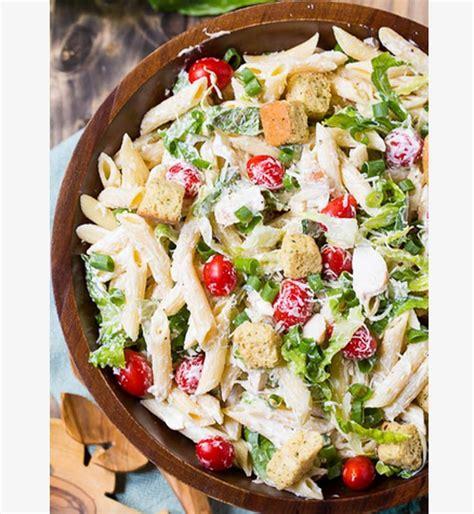 recettes d été cuisine food inspiration salade d été pâtes et poulet sauce