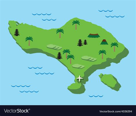 bali map flat design royalty  vector image