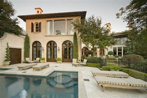 Mediterranean Home : Mediterranean Home In The Memorial Park Section Of Houston