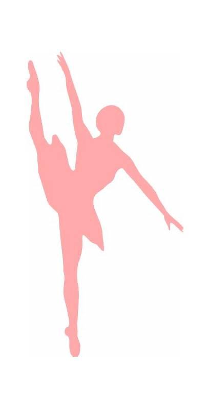 Ballerina Pink Clip Ballet Silhouette Domain Vector