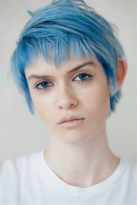 10 New Blue Pixie Cut Short Hairstyles 2017 2018