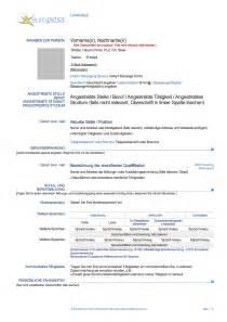 curriculum vitae resume pdf europass lebenslauf englisch muster lebenslauf