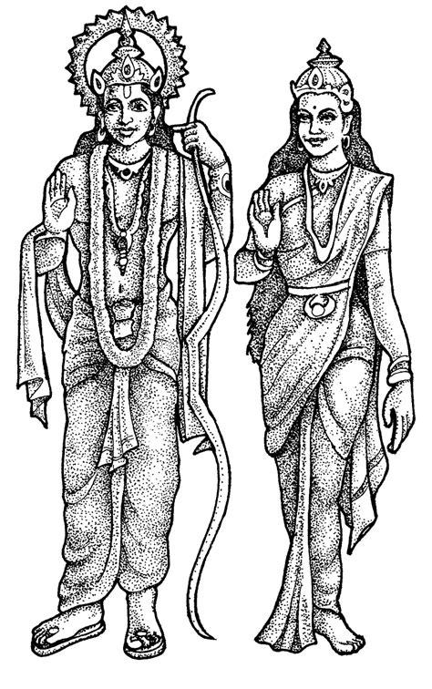 lord rama  goddess sita sketch  images diwali