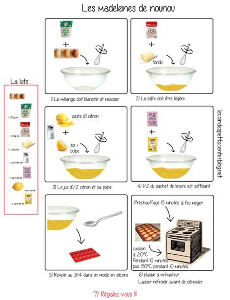 apprendre a cuisiner gratuitement recette illustrée de madeleines au citron façon quot nounou quot