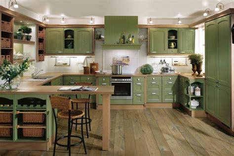 Green Kitchen Interior Design  Stylehomesnet