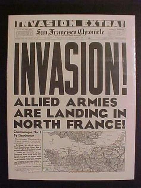 vintage newspaper headline world war 2 allies nazi france d day invasion wwii ebay want