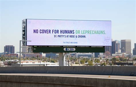 rose crown st pattys day billboard campaign hapi news