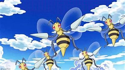 Beedrill Ash Pokemon Anime Gifs Primeape Casey