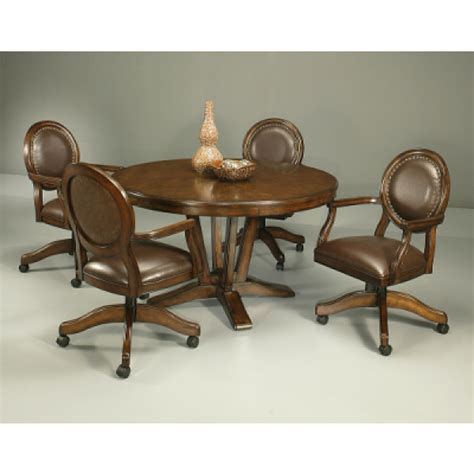 Upholstered Dining Room Chairs With Casters Decor
