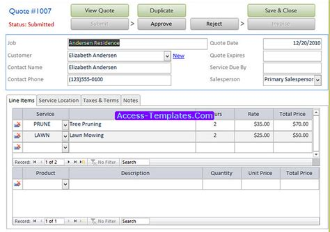 Access templates for small business costumepartyrun access templates of invoicing software for small business cheaphphosting Gallery