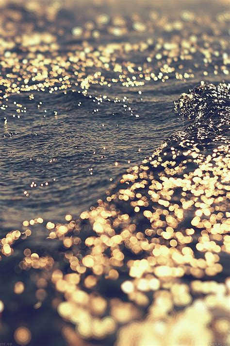 Gold High Resolution Iphone 8 Plus Wallpaper by Mf40 Gold Sea Water Sunset Papers Co