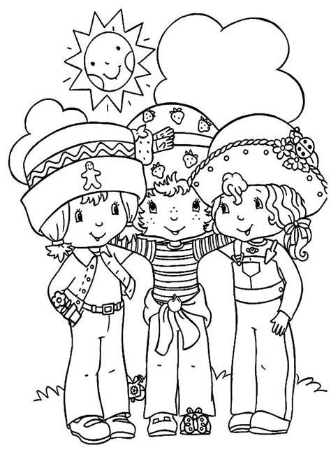 preschoolers  friends coloring pages  place  color