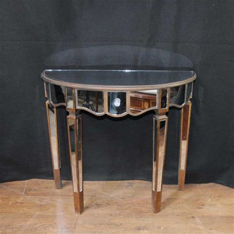 table demi lune cuisine mirrored console table deco demi lune tables