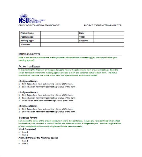 meeting notes template with items 27 sle minutes of meeting templates doc pdf free premium templates