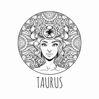 Zodiac Taurus Coloring Sign Adult Horoscope Pages