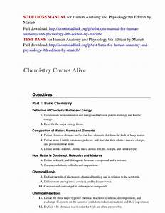 Solutions Manual For Human Anatomy And Physiology 9th