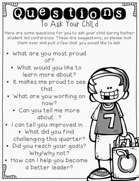 questions to ask at parent teacher conference preschool student led conferences questions parent communication 898