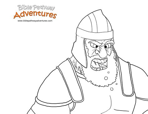 bible story coloring page  giant goliath