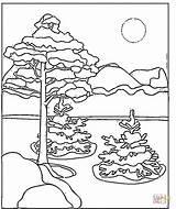 Colorat Iarna Planse Peisaje Peisaj Educatie Ameba Stampare Universdecopil sketch template