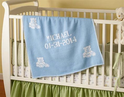 Personalized Baby Blankets For Boys And Girls. Gift On Crib In Nursery Fleece Throw Blanket Tutorial Electric Car Target Bean Sprout Security Snuggle Scruffs Picnic Nz Cat Themed Blankets Joann Fabrics Instructions Pale Pink