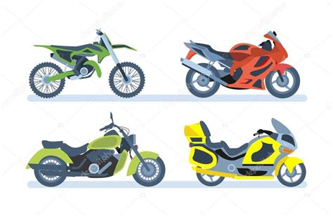 Ground Vehicles. Different Types Of Motorcycles