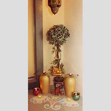 Rangoli And Corner Decor Outside Door Entrance Diwali