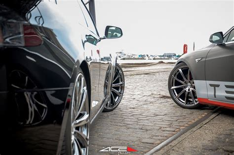 staggered ace alloy wheels aspire black chrome