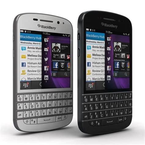 3d blackberry q10 black white