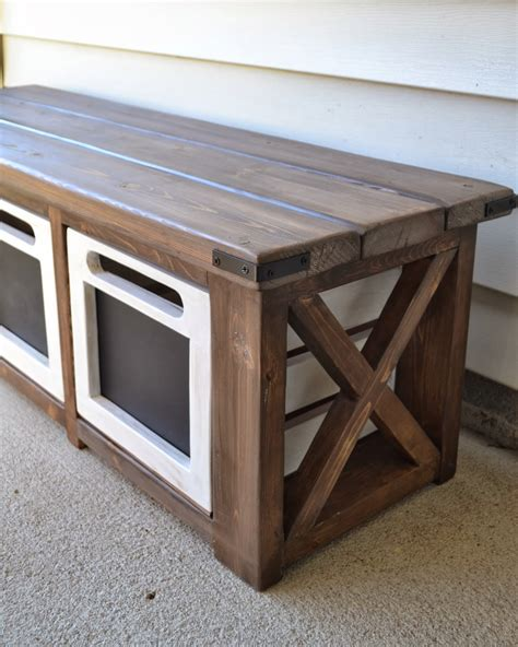 The Domestic Doozie Custom Entryway Bench With Chalkboard