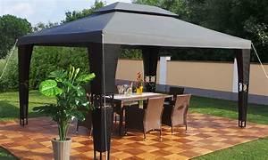 Tonnelle 4 X 3 : tonnelle de jardin rsine tresse noire swing harmonie 3x4 ~ Edinachiropracticcenter.com Idées de Décoration