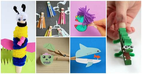 super cute clothespin crafts  kids