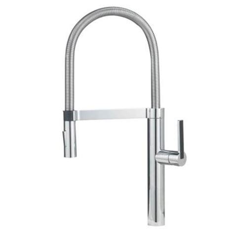 pro kitchen faucet blanco culina semi pro single handle pull down sprayer kitchen faucet in chrome 441331 the