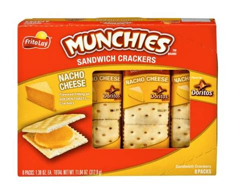 Frito Lay Munchies Doritos Nacho Cheese Sandwich Crackers