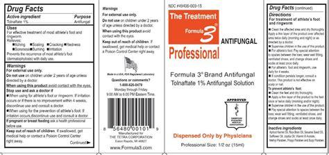 formula 3 antifungal formula 3 solution the tetra corporation