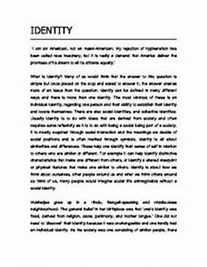 My Identity Essay Write Research Paper Format My Identity Essay  My Identity Essay Conclusion Examples Good Proposal Essay Topics also Professor Writing Services  Lab Report Writers Best