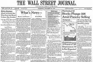 The 1987 Crash and a Dose of Perspective - MoneyBeat - WSJ
