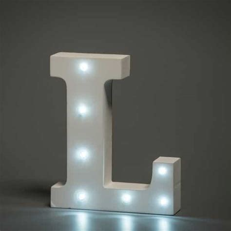 l is lighted alphabet letter l up in lights