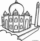 Mahal Taj Coloring Drawing Mosque Pages Getdrawings Printable Cartoon Getcolorings Clipartmag sketch template