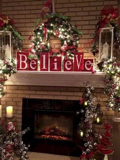 Christmas Decor Mantel Believe Decor Holiday Designs