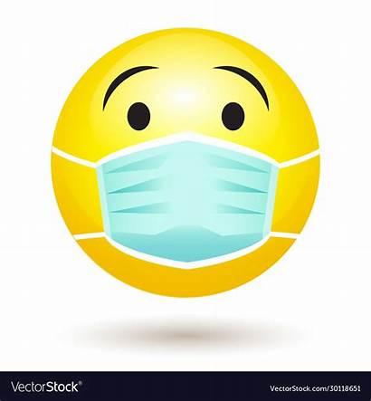 Emoji Mask Face Covid Smile Wearing Corona