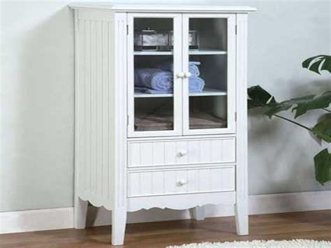 Bath Furniture Storage, Floor Storage Cabinets With Doors