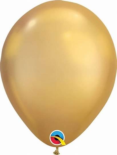 Balloons Balloon Gold Chrome Latex Inch