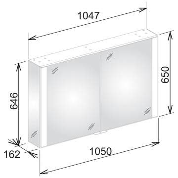 Spiegelschrank Hersteller by Keuco Royal 60 Spiegelschrank 105 Cm 22112171301 Megabad